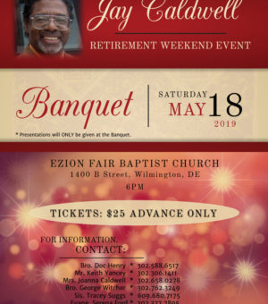 May 18th – May 19th Jay Caldwell Retirement Weekend Event